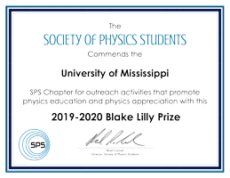 Blake Lilly Prize certificate